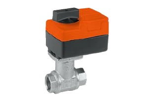 "B318B+TR24-3 US: Belimo Control Valve 3-way CCV, Brass Trim, 3/4"", Cv 7.4 CCV w/ Chrome Plated Brass Ball and Stem"