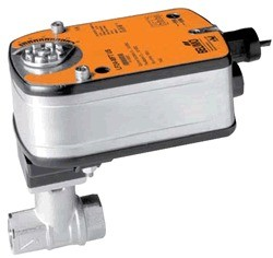 "B313+LF24 US: Belimo Control Valve 3-way CCV, SS Trim, 1/2"", Cv 4.7 CCV w/ Stainless Steel Ball and Stem"