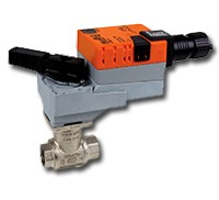 "B311+LRB24-3-T: Belimo Control Valve 3-way CCV, SS Trim, 1/2"", Cv 1.9 CCV w/ Stainless Steel Ball and Stem"