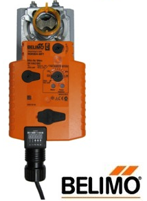 NKQB24-1 Damper Actuator, 54 in-lb [6 Nm], Electronic fail-safe, AC/DC 24 V, On/Off
