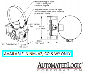 NSB-10K-2-S-BB2-A CLAMP-ON TEMPERATURE SENSOR - BB2 ENCLOSURE LOGO - ALC
