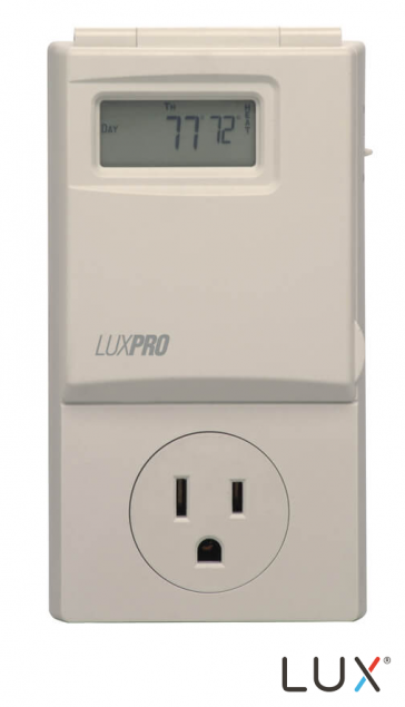 PSP300 Wall outlet 5/2 programmable for most room airconditioners and portable electric heaters up to 15 amps.