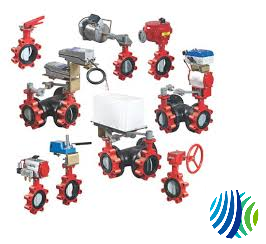 VFC-050VE-042C Model VFC-050VE Two-Way Industrial-Grade Non-Spring-Return V-909x Series HP Pneumatically Actuated HT Butterfly Valve w/ On/Off Actuator