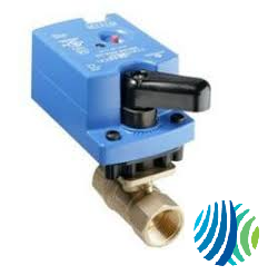 VG1241AD+9T4GGA Model VG1241AD Two-Way Plated Brass Trim NPT End Connections Ball Valve with Model VA9104-GGA-3S Non-Spring-Return Electric Actuator