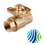 VG1271AL+9T4IGA Model VG1271AL Two-Way Plated Brass Trim Sweat End Connection Ball Valve with Model VA9104-IGA-3S Non Spring-Return Electric Actuator with M3 Screw Terminal
