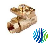 VG1291AF+9T4GA VG1291AF Press End Connection Plated Brass Trim Ball Valve with VA9104-GGA-xS Actuator, DC 0 to 10 V Proportional Control, 24 VAC, Two-Way
