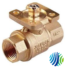 VG1271AF+9T4GGA Model VG1271AF Two-Way Plated Brass Trim Sweat End Connection Ball Valve with Model VA9104-GGA-3S Non Spring-Return Electric Actuator with M3 Screw Terminal
