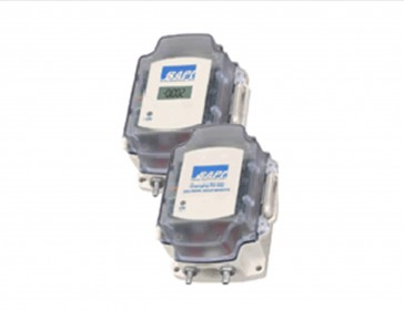 "ZPS-05-SR75-EZ-NT BAPI EZ Pressure Sensor 0-5VDC Output, 0 to 5.00 inches WC, No Static Pressure Probe, Display Reads ""ON"""