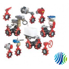 VFM-040HB-000G Model VFM-040HB Two-Way Industrial-Grade Manually Operated Press/Temp Butterfly Valve w/ Actuator, Gear-Operated Manual Hand Wheel
