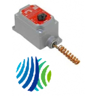 A19BUC-2C Penn Series A19 Thermostat for Hazardous Location, SPDT Switch Action, -7 to 27°C Range, 1.9°C Differential, Coiled