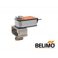 """B2050VS-01+LF120 US: Belimo Ball Control Valve with Spring Return Actuator, 1/2"""", 2-Way,Brass Body, SS Trim, Cv1 with Spring, 35in-lb, On/Off, 120V"""
