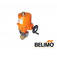 "B2050VS-01+SY1-220: Belimo Ball Control Valve with NEMA 4X Actuator, 1/2"", 2-Way,Brass Body, SS Trim, Cv1 with Non-Spring Return,310 in-lb ,On/Off,230V"