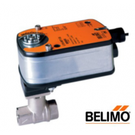 """B220+LF24-SR US : 2-Way 3/4"""" CCV Ball Valve, Cv 14, Stainless Steel Ball and Stem, Spring Return Damper Actuator, 24VAC/DC, 35 in lb, 2-10VDC (4-20mA) Proportional Control Input, 150 Second Run Time,"""