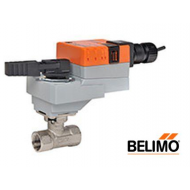 """B220+LRB24-SR : 2-Way 3/4"""" CCV Ball Valve, Cv 14, Stainless Steel Ball and Stem, Non-Spring Return Control Valve Actuator, 24VAC/DC, 45 in-lb, 2-10VDC (4-20mA) Proportional Control Signal, 90 Second Run Time"""