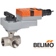 """B340+ARX24-3-T Characterized Control Valve (CCV), 1 1/2"""", 3-way, Cv 37  Configurable Valve Actuator, Non fail-safe, AC/DC 24 V, On/Off, Floating point, terminals"""