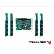 E30B248: Veris Branch Circuit Monitor, High Density Solid-core, Intermediate Monitoring: Voltage, Current, Power and Energy for two 3-phase mains and two neutrals, Voltage and Current for 48 circuits, four strips with 12 ea 100A solid-core CTs with 18 mm