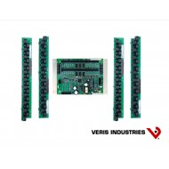 E30B284: Veris Branch Circuit Monitor, High Density Solid-core, Intermediate Monitoring: Voltage, Current, Power and Energy for two 3-phase mains and two neutrals, Voltage and Current for 84 circuits, four strips with 21 ea 100A solid-core CTs with 18 mm