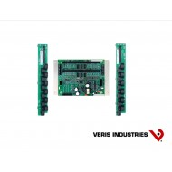 E30C224: Veris Branch Circuit Monitor, High Density Solid-core, Basic Monitoring: Current only for 24 branch circuits, one 3-phase main and one neutral, two strips of 12 ea 100A solid-core CTs with 18 mm spacing, Modbus communications, 90–277VAC (L-N)