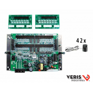 E31A42 Advanced Monitoring: Voltage, Current, Power and Energy for two 3-phase mains, two neutrals and 42 branches, Modbus, 90–277VAC (L-N), incl. 2 cables CBL022 and 42 ea 50A split-core CTs; 100A/200A CTs sold separately (see E31CT)