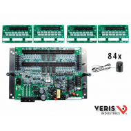 E31A84 Advanced Monitoring: Voltage, Current, Power and Energy for two 3-phase mains, two neutrals and 84 branches, Modbus, 90–277VAC (L-N), incl. 4 ribbon cables CBL022 and 84 ea 50A split-core CTs; 100A and 200A CTs sold separately (see E31CT)