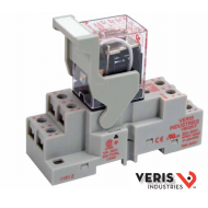 FKIT-VMD2B-C12D VMD2B-C12D Relay and VBD2B-F Socket, Current: maximum 10A, minimum 100mA @ 5VDC, Coil voltage: 12VDC. DPDT,finger safe terminals, hold down clip. CE,UL,RoHS.
