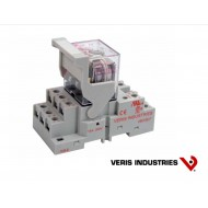 FKIT-VMD3B-C24A: VERIS Relay DIN Mount Full Featured  VBD3B-F 3PDT Socket Kit.