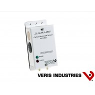 GWNXS: VERIS CO Wall Sensor, 4-20mA output, 25ppm relay setpoint, local audible alarm.