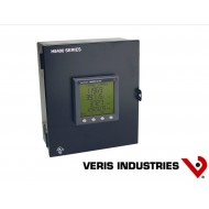 H8453VB: VERIS Power Meter, Wall mount, 120-480 V, Pulse output, FDS, two N.O. solid-state KY outputs (KWH and field-selectable Phase Loss/KVArh).