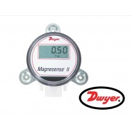 "MS2-W111-LCD: Dwyer Differential pressure transmitter, wall mount, universal current/voltage outputs, low range (0.10, 0.15, 0.25, 0.50"" w.c.), bi-directional, LCD"