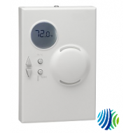 NS-BPB7003-0 Temp/Hum Network Sensor, 120mm x 80mm Size, Wall Box & Surface-Mounted, W/ Logo, W/ Display, Humidity Element 2%, Setpoint Dial, W/ Scale Toggle, W/ Switches