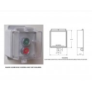 PILCLHCOV1: Space Age Electronics, Inc., Clear Hinged Cover Fits All Push Button Stations,  For Metal Backboxes Only