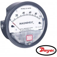 "2100: DWYER Differential pressure gage, range 0-100"" w.c., minor divisions 2.0."