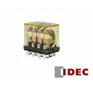 RH4B-ULDC24V: IDEC General Purpose Relay, 4PDT RELAY W/ LIGHT & CK BUTTON 24VDC