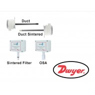 RHP-3D10: DWYERSeries RHP Humidity/Temperature Transmitter, Duct mount 3% RH transmitter with 4-20 mA RH output.