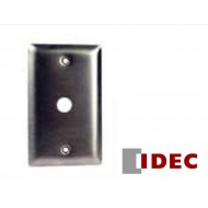 SSG1-5/8: IDEC Pilot Light Stainless Steel Wall Plate Box Mounted