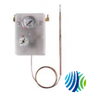 T-8000-4 Series T-8000 Remote 8' Averaging Element Controller, Proportional Action, Non-Compensated Capillary, -10 to 124°F Two Side Dial, 4' Capillary Length