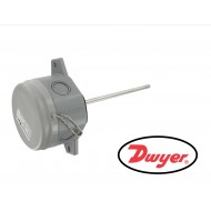 TE-DFG-A0444-00: DWYER Series TE Air Duct Temperature Sensor with 4 inch probe, 10K Ohm Type III Thermistor, GP housing.