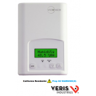 U010-0016 Viconics VT7652B5000W. 2 heating and 2 cooling contacts, programmable, Passive Infrared ready. CE, UL.