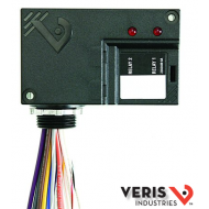 "V100D Dual SPDT, coil: 10-30 VAC/DC and 120 VAC, LED indicator, 1/2"" nipple mount with nut, 14"" long tinned wires. UL."
