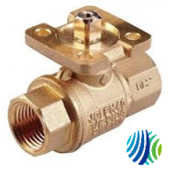 VG1295CP+9T4GGA Model VG1295CP Two-Way Stainless Steel Trim Press End Connection Ball Valve with Model VA9104-GGA-3S Non-Spring-Return Actuators with M3 Screw Terminal