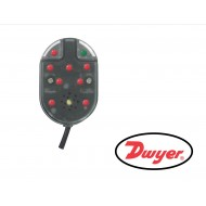 WD2-LP-D2: DWYER Series WD2 Water Leak Detector, Line powered 11-27 VAC/DC leak detector, DPDT, 4.8 ft of cable, no audible alarm.