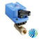 VG1241AD+923GGB Model VG1241AD Two-Way Plated Brass Trim NPT End Connections Ball Valve with Model VA9203-GGB-2Z Spring-Return Open with One Switche Electric Actuator